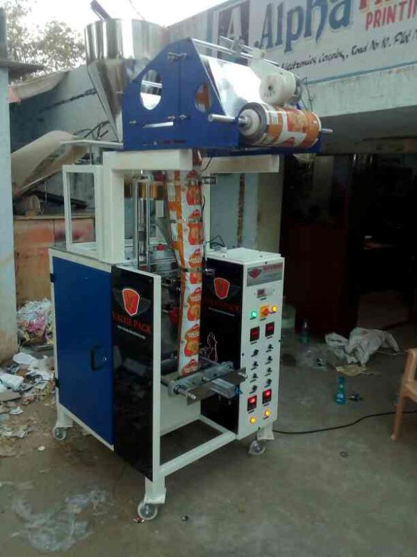 Herbal Powders packing machine  100 gm to 1kg  40 pouch per minute  Full pneumatic  Central sealing  Cup filler - by Value Pack Machinery, Hyderabad
