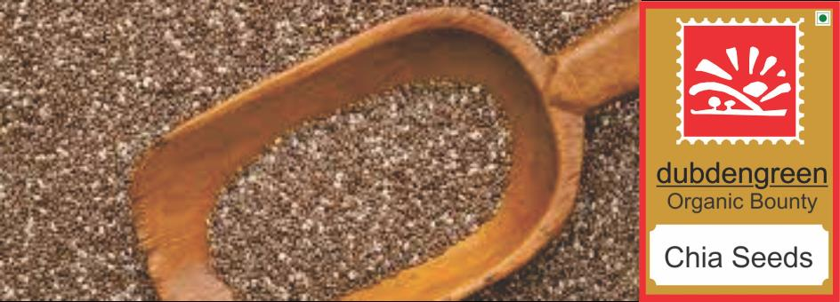 ORGANIC CHIA SEEDS from Dubdengreen - The Organic Food Store. And More.   Organic Chia Seeds are an ancient grain and they are whole grain and gluten free and easier to digest than Flax Seeds that have many similar properties.   Chia Seeds  - by Dubdengreen, South Delhi