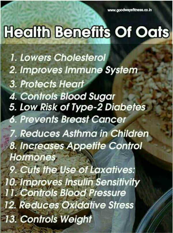 oats in all forms can help your heart by lowering LDL, the bad cholesterol. A warm bowl of oatmeal fills you up for hour, fights snack attacks, and helps keep blood sugar levels stable over time.  zumba classes in Geeta Colony best zumba cl - by Goodways Fitness @ 9971927915, Delhi