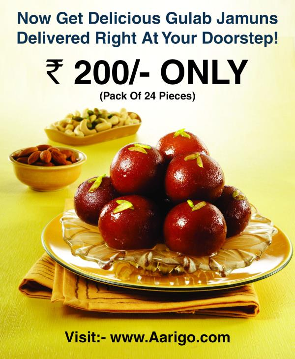 Enjoy your all time favourite sweet served right at your doorstep.Pack of 24 Gulab Jamuns Only @ Rs 200...  http://bit.ly/1r2SZR2 - by Vilankar's Group, Mumbai