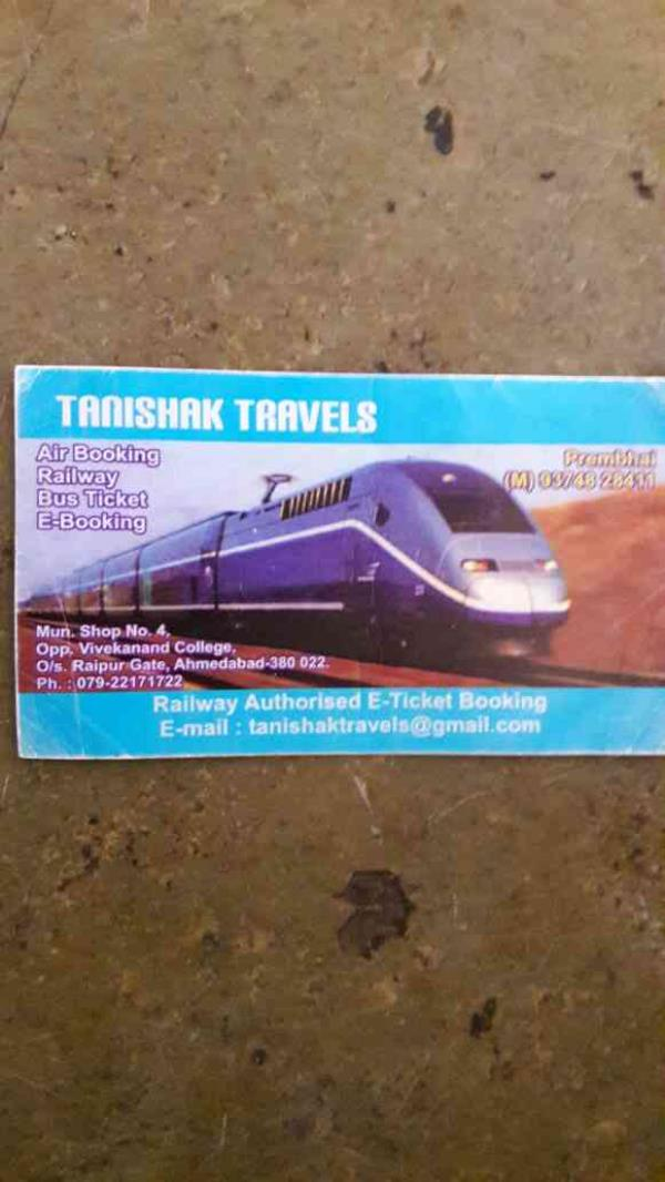 We are authorised ticket booker of Railway , Airbooking, Busticket and E-Booking in ahmedabad.. - by TANISHAK TRAVELS, Ahmedabad