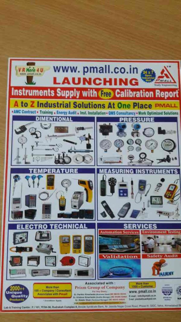 we are the one of the best calibration services provider in india - by Prism Pharmatech Solutions, Ahmedabad