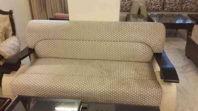 three seater sofa teak wood handle highest quality parameters - by Shagun Decor, Jaipur