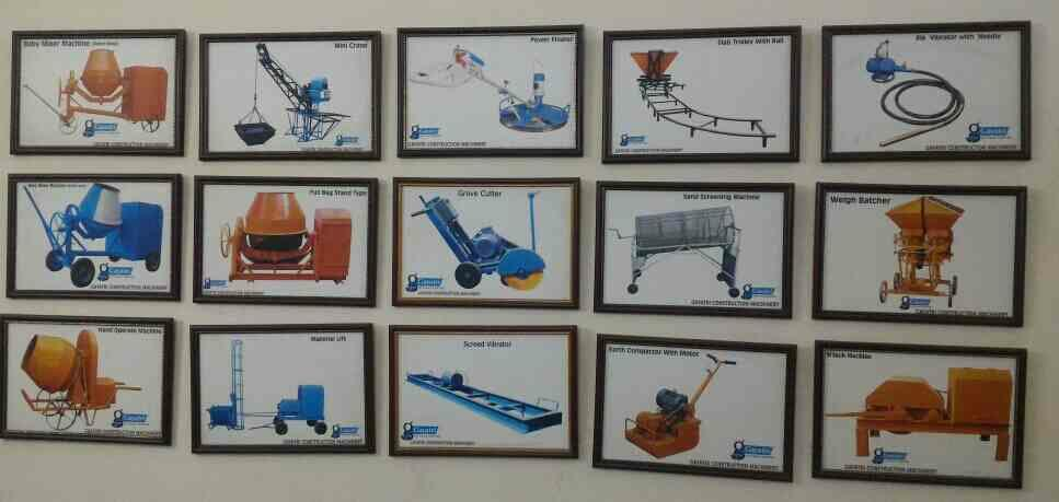 we have customize range in construction machinery  - by Gayatri Engineering Works , Ahmedabad