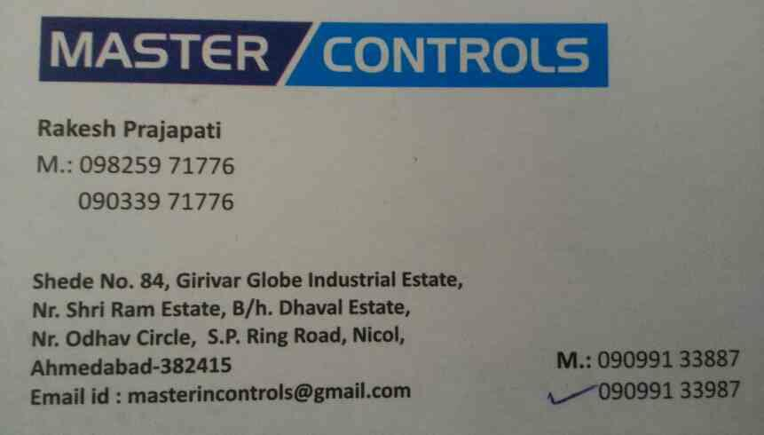plz contact for control panel for industrial machinery in Ahmedabad  - by Master Controls , Ahmedabad