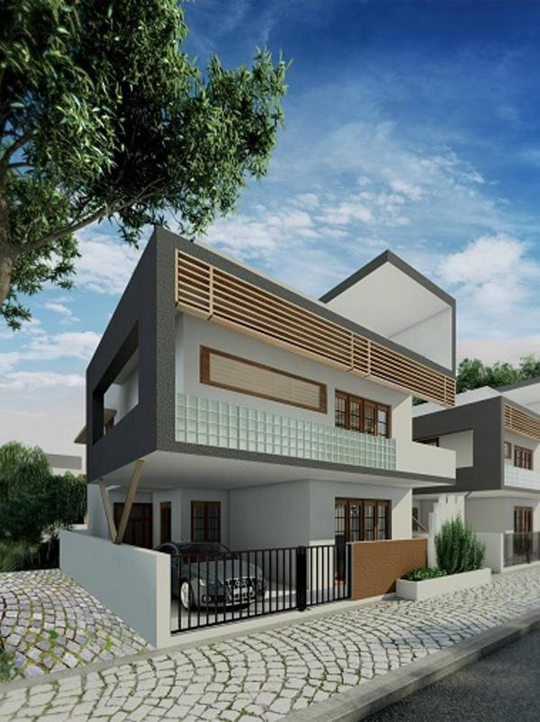 Villa Plots for Sales In Bellary Road  Le Lexuz StoneView is an integrated residential community located close to Bangalore International Airport. This project is a Hebron Properties initiative.  Surrounded by vineyards and landscaped garde - by Hebron Properties, Bangalore Urban