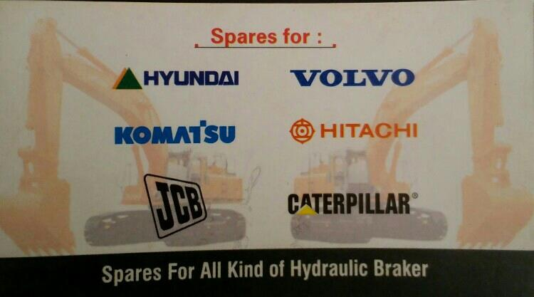 We are Supplier and Treader of All kind of Hydraulic Braker Spare Part for Volvo, Komatsu, CAT, JCB in Rajkot -Gujarat - by Network Hydraulic, Rajkot