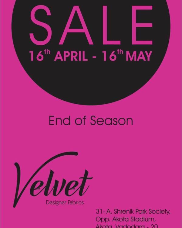 Having sale up to 30% discount for whole month on al Designer fabrics  - by Velvet Designer Fabric, Vadodara