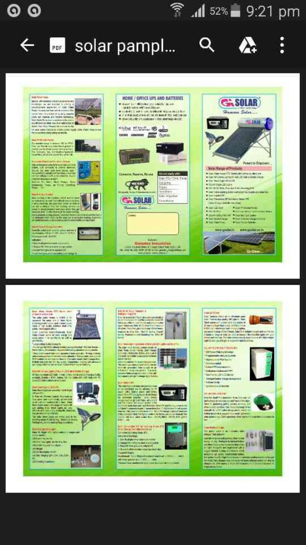 G SOLAR Products Catalogue  - by G SOLAR, Hubli
