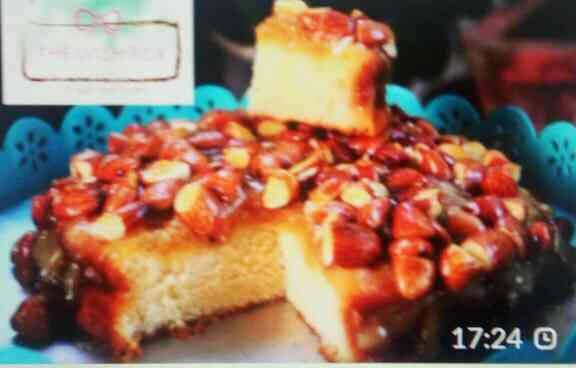 honey glazed almond cake - by The Wish Box, Jaipur