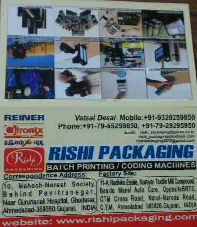 plz contact for customized and best quality batch coding machinery  - by Rishi Packaging , Ahmedabad