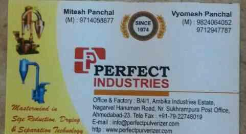we deals in best quality material in pulverizer  - by Perfect Industries , Ahmedabad
