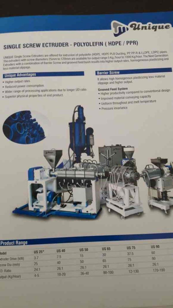 we are the leading supolier of Extrusion Machinery in ahmedabad - by Unique Machinery, Ahmedabad