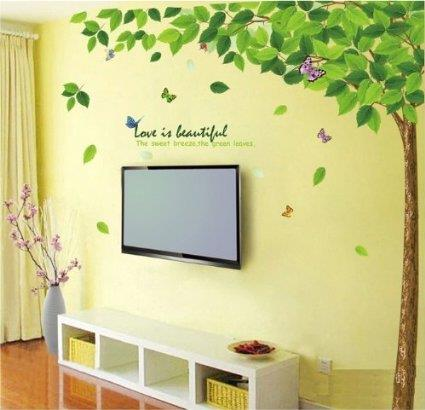 Make your room bright with wallpapers and decors... We are always there to suggest you about the room interiors... We Are Reachable at www.fourwallsinteriors.com #designs #modernhall #interiordesigns - by Four Walls Interiors, Coimbatore