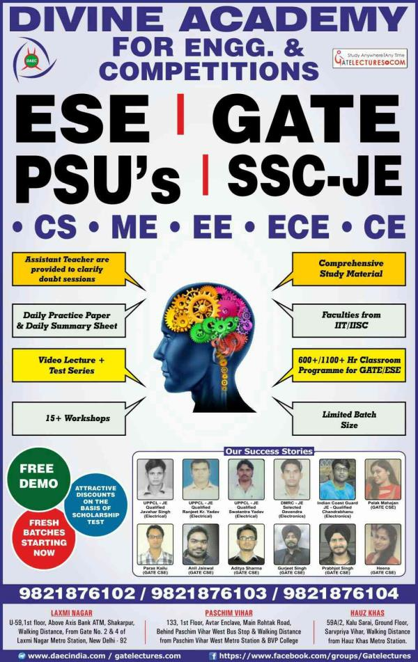 Ssc JE Coaching in Delhi   DAEC is having expert and experienced faculty of all branches  - by Divine Academy, West Delhi