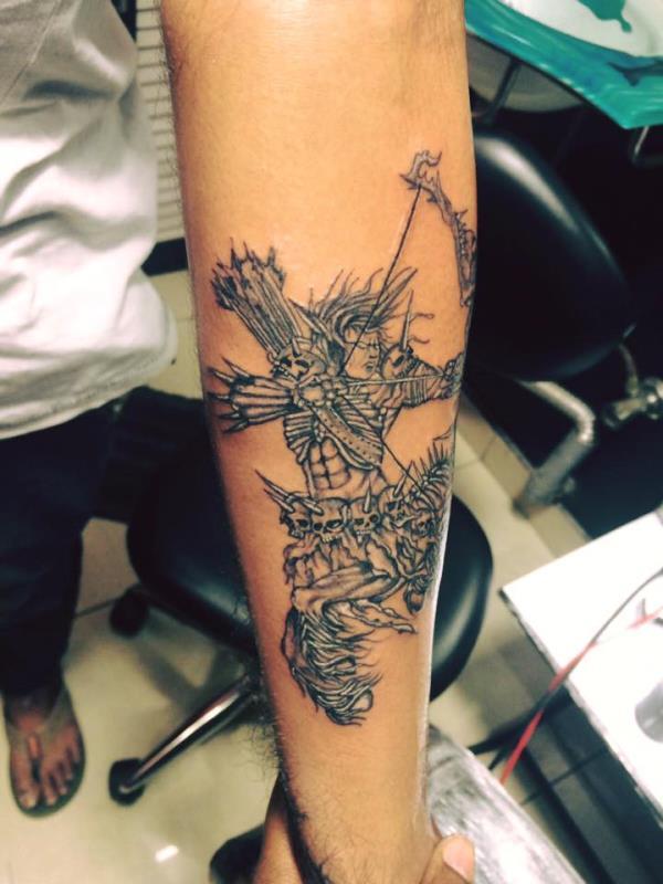 Warrior tattoo design - by Xtreme Tattoos Studio, Bangalore