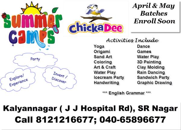 Summer camp at the school began with lot of activities - by Chickadee Preschool & Hobby Zone, Hyderabad