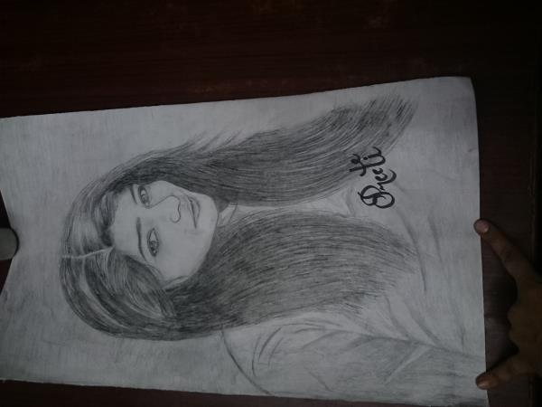 Portrait made on order by me - by Preeti Art Academy, Indore