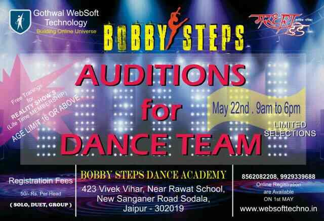 Best oppurtunity show ur dance passion in jaipur - by Bobby steps, Jaipur