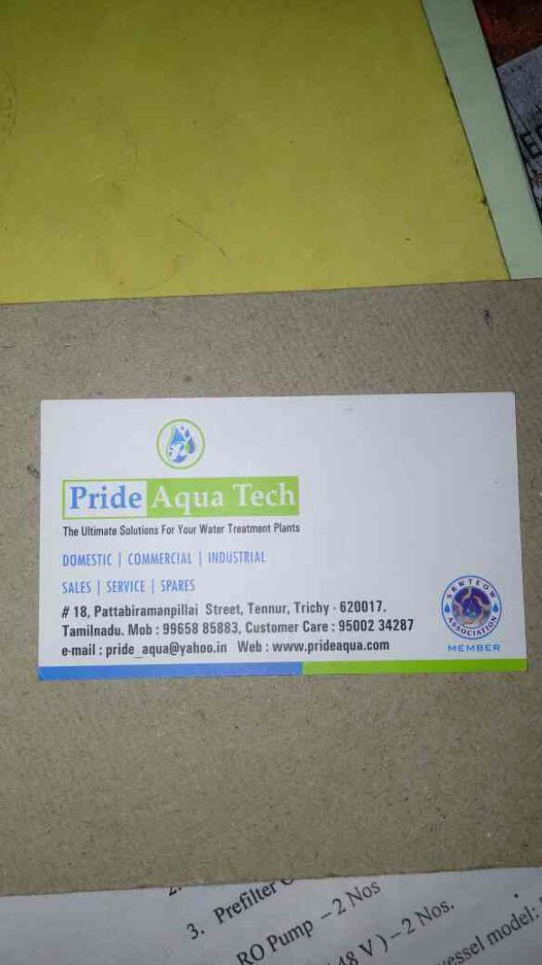 we are the best industrial  RO ater treatement plants in trichy - by Pride Aqua Tech, Trichy