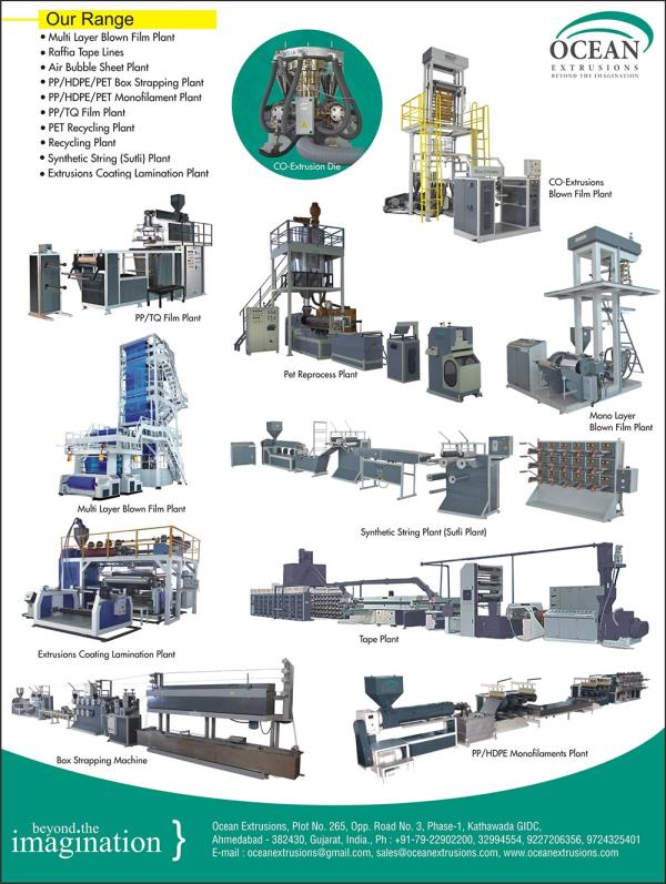 Monolayer Blown Film Plant Monolayer Blown Film Plant Monolayer Blown Film line Monolayer Blown Film machine  Blown Film production Machine extrusion Blowing Film making Machine plastic Blown Film making Machine Blown Film production line b - by Ocean Extrusion , Ahmedabad
