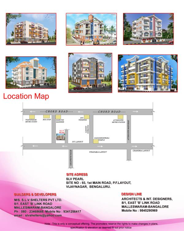 SLV PEARL 2 bhk apartments in Vijayanagar near Maruthi Mandhir we are providing luxury amenities  - by SLV SHELTERS, Bangalore
