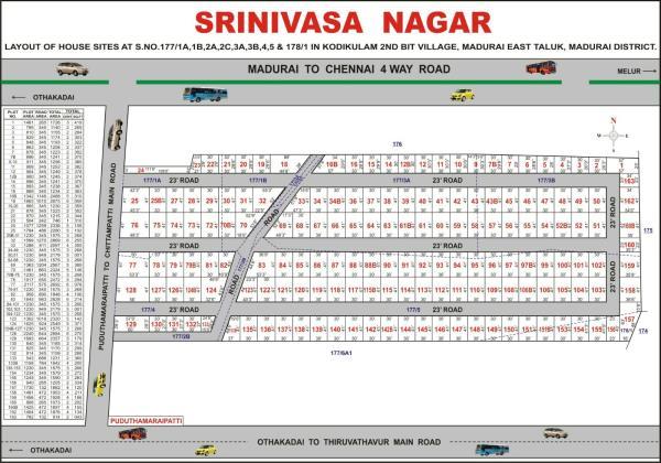 Residential Plot For Sale In othakadai - by Jeme Star Housing, Madurai