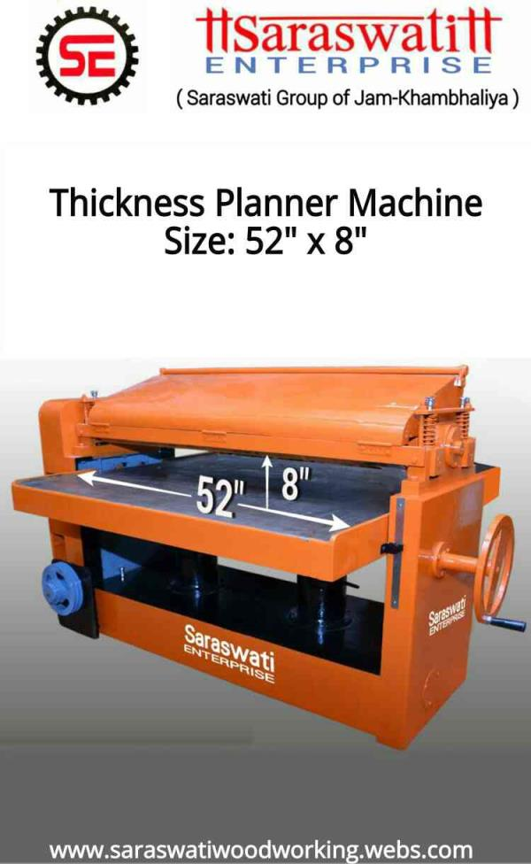 "52""x8""- Thickness Planner Machine (Heavy Duty) - by Saraswati Enterprise, Rajkot"