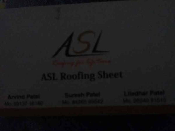 ASL Roofing Sheets..  We deal in all type if Roofing Sheets, Color Coating, Green Sheets etc... - by Asl Roofing, Ahmedabad