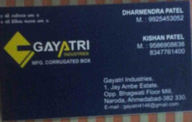 manufacturing of corrugated box and dooplex box - by Gayatri Industries, Ahmedabad