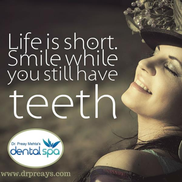 "Get PAIN-FREE Teeth Whitening treatment in Alkapuri Vadodara only @ DENTAL SPA ::  "" Every time you smile at someone, it is an action of love and care - a gift to that person !! Sometimes your joy is the source of your Smile, but sometimes  - by Dental Spa, Vadodara"