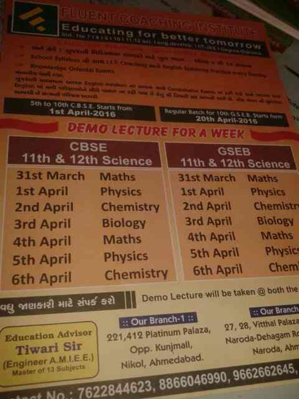 service provide in cbsc claasis in ahmedabad. - by Fluent Coaching Institute, Ahmedabad