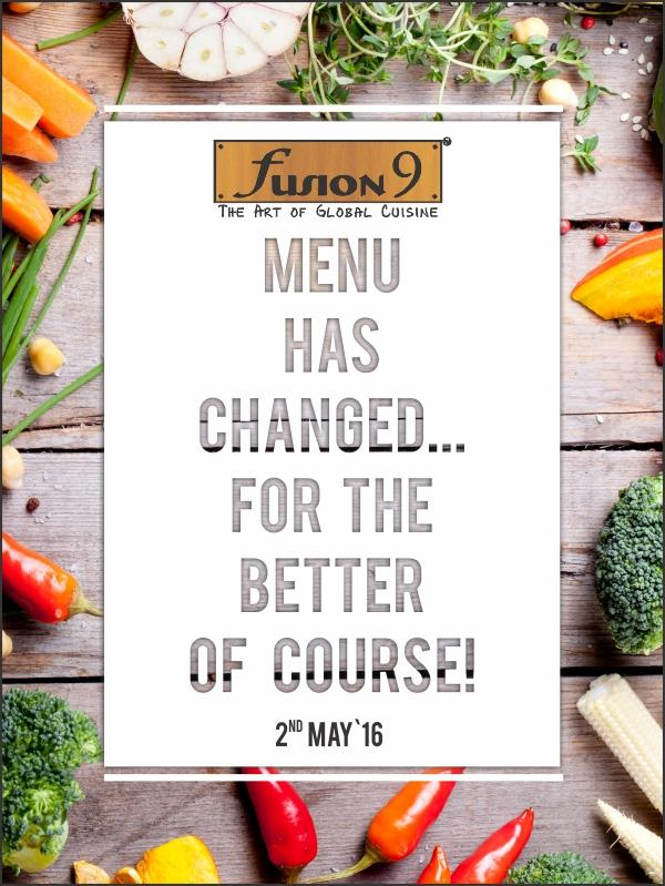 Fusion 9 Inorbit has rolled out its new menu with added variety and definitely more flavour!! - by Fusion 9 Inorbit, Hyderabad