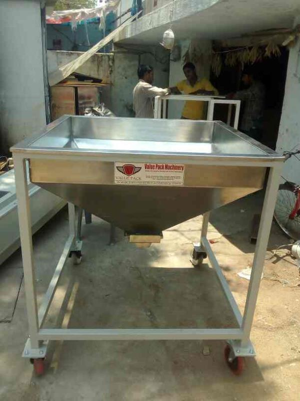 Hopper for conveyor  - by Value Pack Machinery, Hyderabad