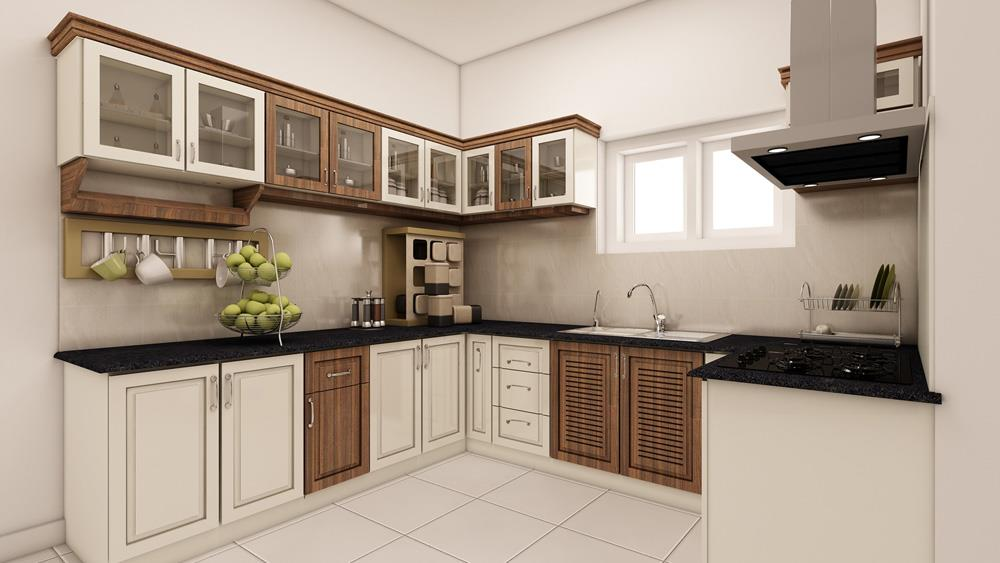 Beautiful #kitchen interior design for most beautiful kitchen in your home.... We are there to help you to make better #modularkitchen... www.fourwallsinteriors.com #modularkitchen #interiordesigns - by Four Walls Interiors, Coimbatore