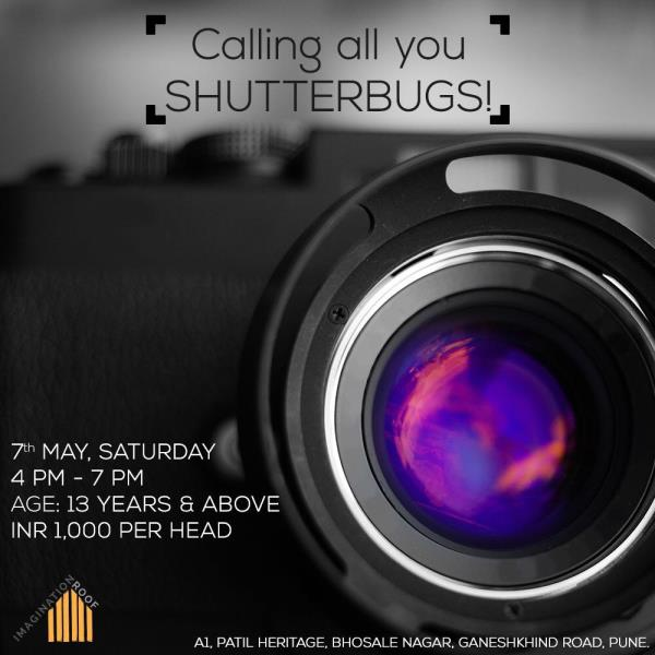 Imagination Roof will be hosting a three hour photography workshop conducted by the brilliant Gagan Prakash! All you budding photographers, this is a great way to master the basics and learn how to shoot like a pro! Call us on 9765567997 to - by Imagination Roof, Pune