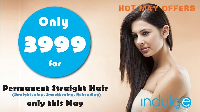 Hair Straightening at Rs 3999 only. Lotus facials at 30% off this month - by Indulge The Salon, Bhubaneswar