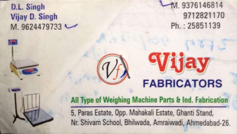 Weighing machine manufacturing  - by Vijay Fabricators, Ahmedabad