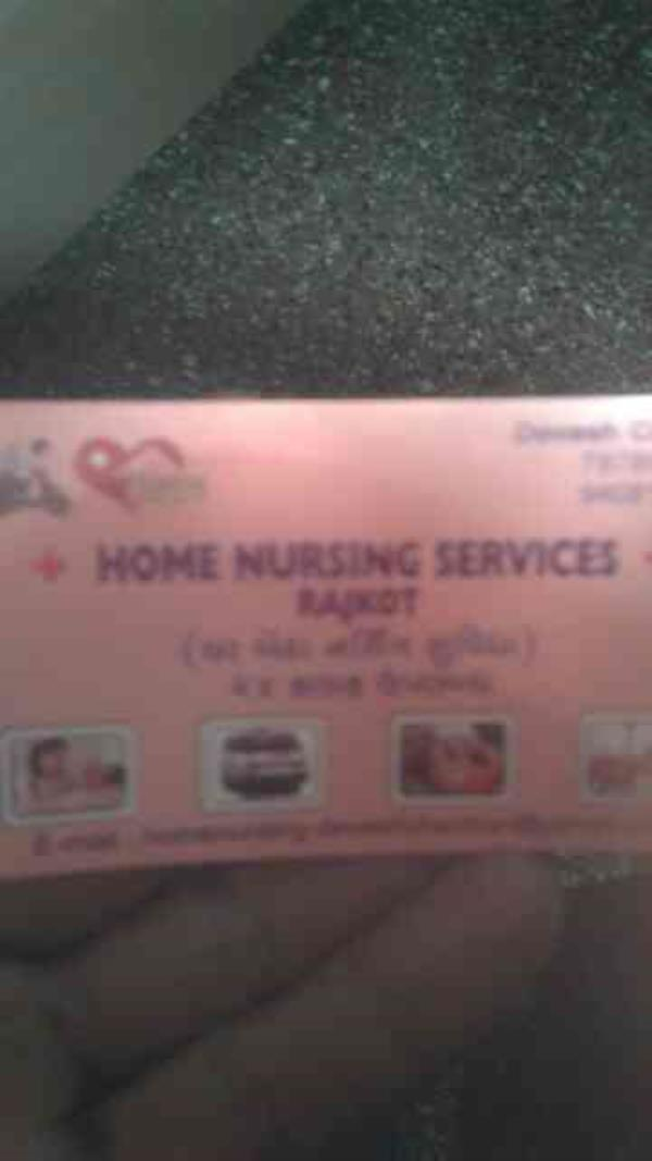 we are giving home based Nursing Services ,  Trained Attendants,  Doctor on call , Physiotherapy Service etc.... in rajkot based ..... - by Homenursingservices, Rajkot