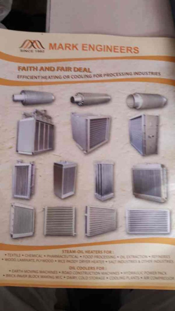 We are the leading manufacturer of Finned tubes , Steam Oil -heaters , Oil Coolers, , Shell and Tube Heat exchangers.. - by Mark Engineers, Ahmedabad