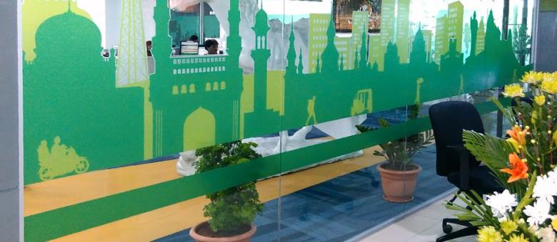 For Glass Graphics in hyderabad, Midas Touch Creations is the trusted partner. We have done so many Glass Graphic Projects in Hyderabad and Secunderabad.   For sample work, please take a look on this project. - by Midas touch, Hyderabad