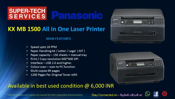 Panasonic Laser Printer KX-MB 1500 in Best condition  - by Super-Tech Services, Ahmedabad