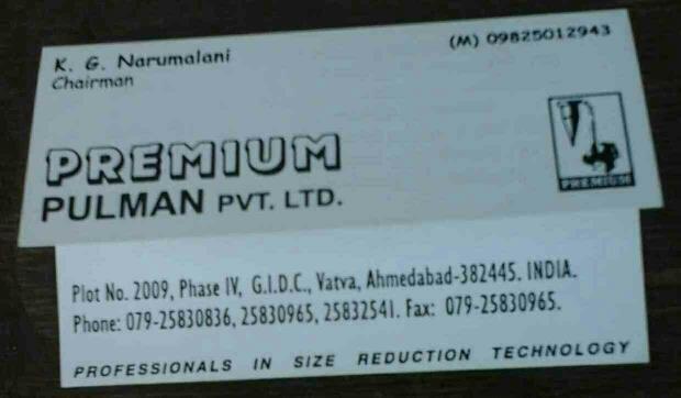Premium Pulman Pvt Ltd is Exporter of Pulveriser for Spices Industries - by Premium Pulman Pvt Ltd, Ahmedabad