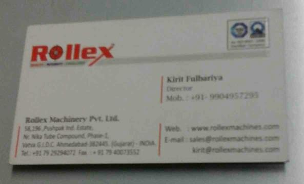 Slitter Rewinding Machine Manufacturer in Ahmedabad - by Rollex Machinery Pvt Ltd, Ahmedabad