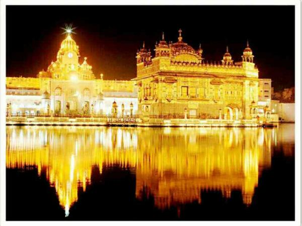 Sri Harmandar Sahib The Golden Temple In Amritsar   There are:  1.   Main Entrance & Clock Tower 2.   Central Sikh Museum  3.   Sarowar (pool of nectar) 4.   Dukh Bhanjani Ber 5.   Ath Sath Tirath ( 68 Holy Places) 6.   Watch Tower  7.   La - by SHRI GURU GARANTH SAHIB, Amritsar