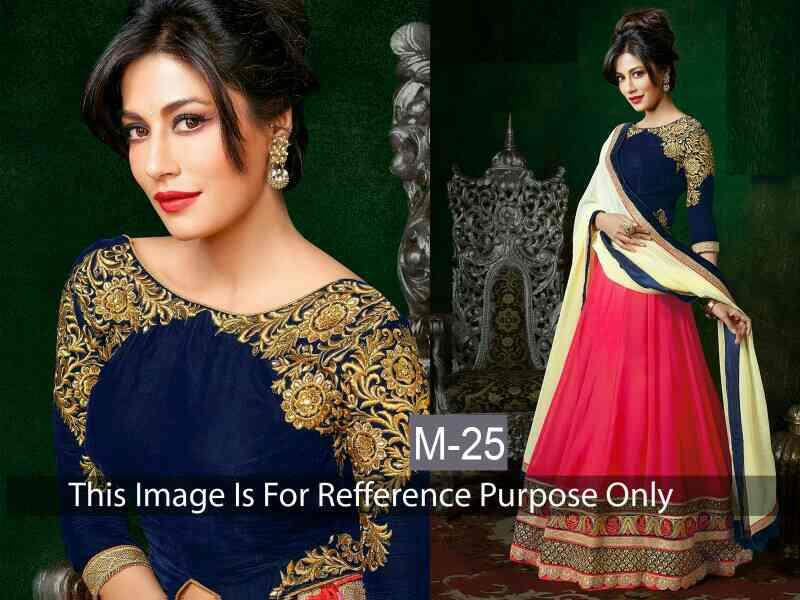 Fabric - georgatte  Top - velvet  Style - lehngha   - by Shopper Shopee, Surat