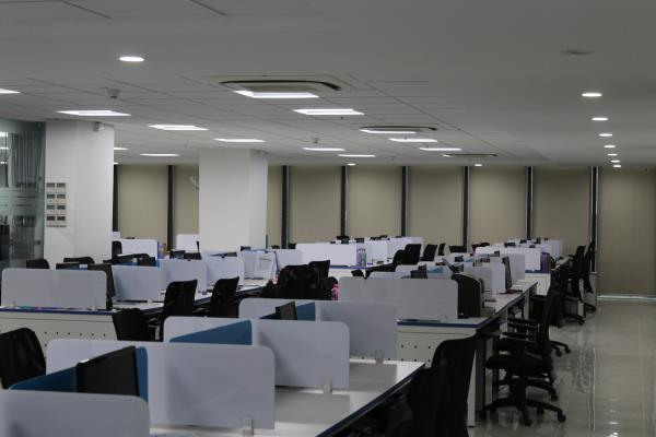 Interiors in Software Company !! 10, 000 SFT - by GoGreen Project Solutions, Hyderabad