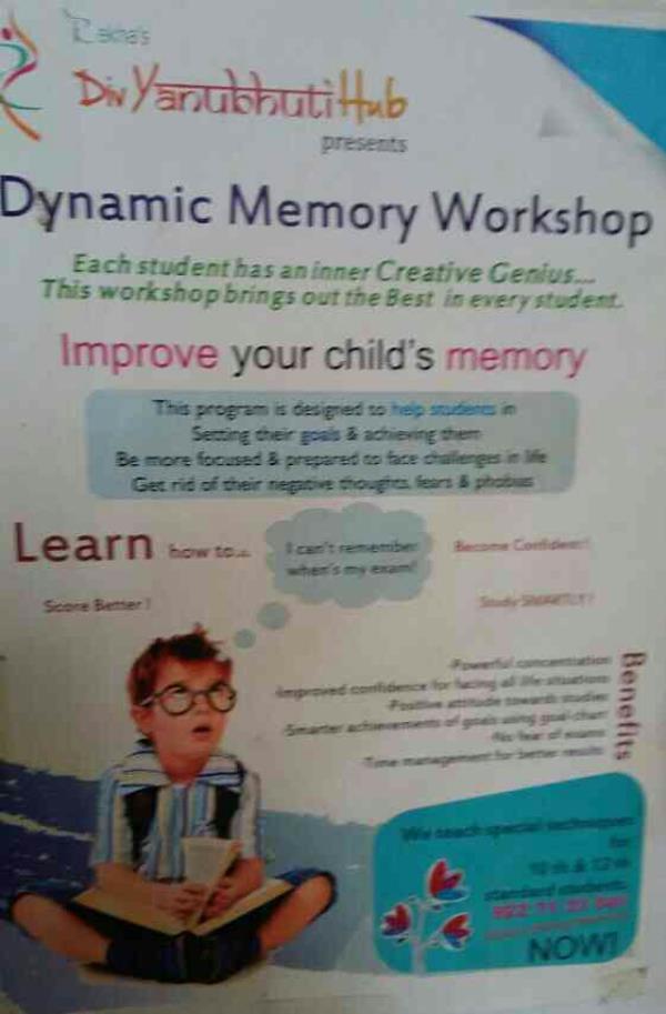 Dynamic Memory Workshop , Akota , Vadodara. - by Divyanubhuti hub, Vadodara