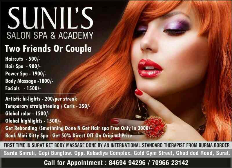Two  hair spa only in 900/- - by Sunil's Salon Spa & Academy , Surat
