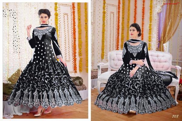 Fine Smart Anarkali Suit Fabric : Goerjettee - by Kelly Creation, Surat